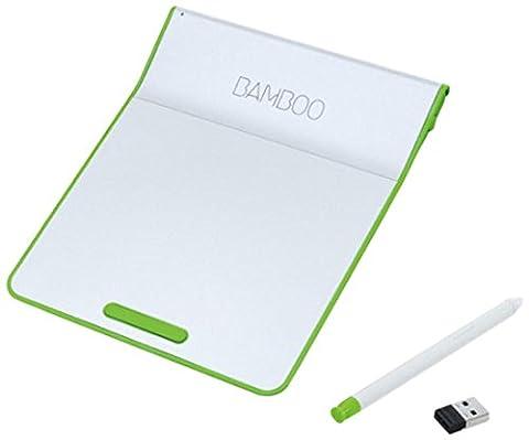 Wacom Bamboo Pad Wireless inkl. StiftCTH-300E (Trackpad & Touchpad für Windows & Mac) Weiß-Grün