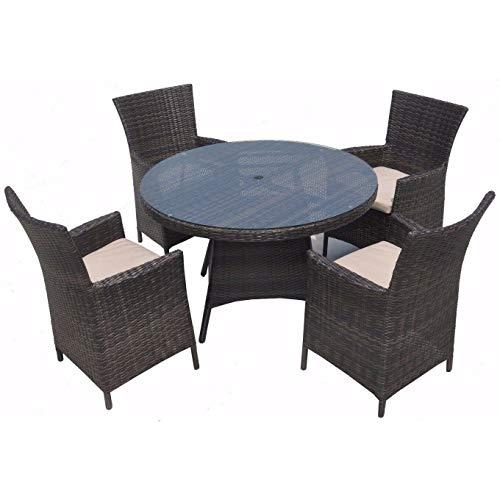 LYQZ Table Et Chaise Ensemble Terrasse Restaurant Rotin Mobilier D'extérieur Vaisselle Ronde en Rotin Vaisselle en Rotin (Couleur : A)