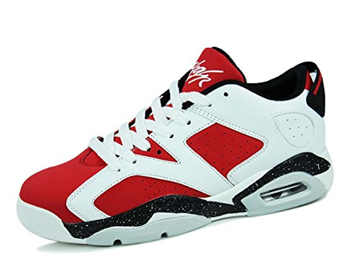 Sneaker Unisex Hi-top Scarpe Da Basket Air Cushion Lace-up Scarpe Sportive Traspiranti Rosso