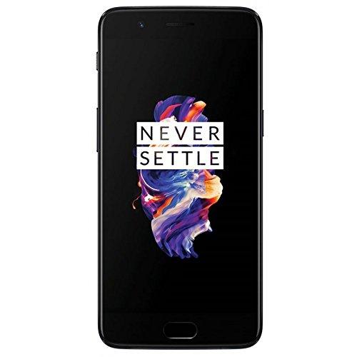 OnePlus 5 Smartphone 64GB grigio (slate gray) A5000 [EU-version] con l'originale Dash Charger (6GB RAM, Snapdragon 835, dual camera) 5,5 pollici