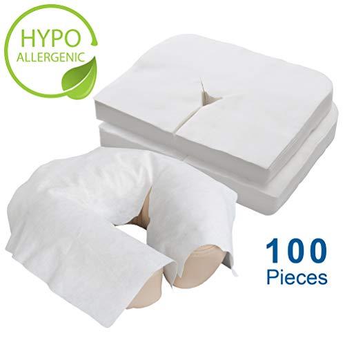 EARTHLITE Protège-têtière en papier jetable - Qualité médicale, ultradoux, luxueux, ne colle pas (100unités)