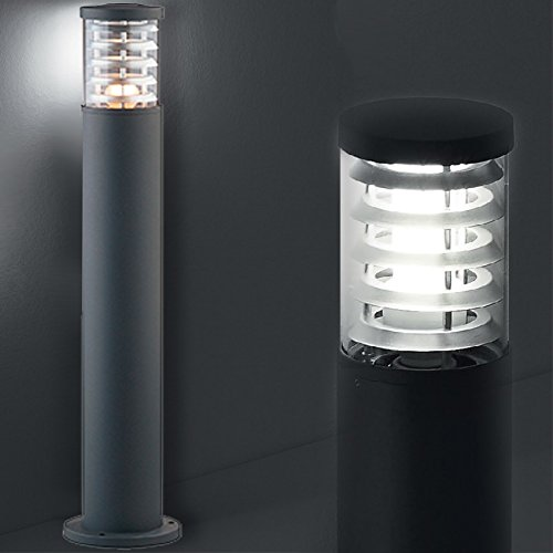 MIA Light Poller Leuchte ↥800mm/ Modern/Anthrazit/Alu/AUSSEN Wege Lampe Aussenlampe Aussenleuchte Gartenlampe Gartenleuchte Pollerlampe Pollerleuchte Wegelampe Wegeleuchte - Poller-leuchten