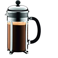 BODUM Chambord 8 Cup French Press Coffee Maker, Chrome, 1.0 l, 34 oz