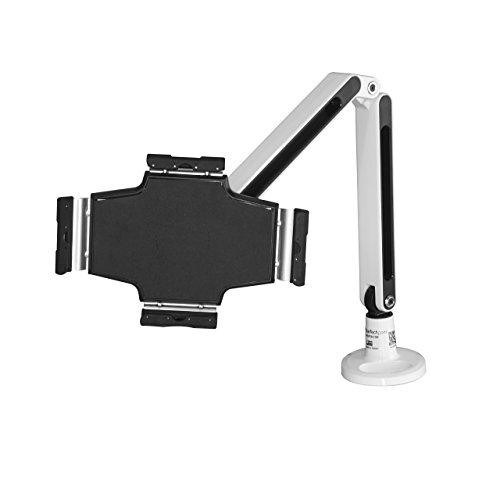 StarTech ARMTBLTIW Schreibtisch Tablet Halter - Schwenkbarer Arm Weiß (Ipad-halter Schwenkbarer)
