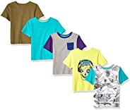 Spotted Zebra 5-Pack Short-Sleeve T-Shirts Niños, Pack de 5