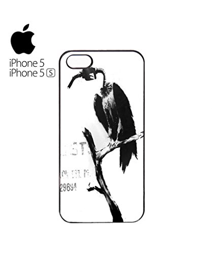 Banksy Petrol Gas Pump Head Vulture Dungeness Mobile Cell Phone Case Cover iPhone 5c Black Schwarz