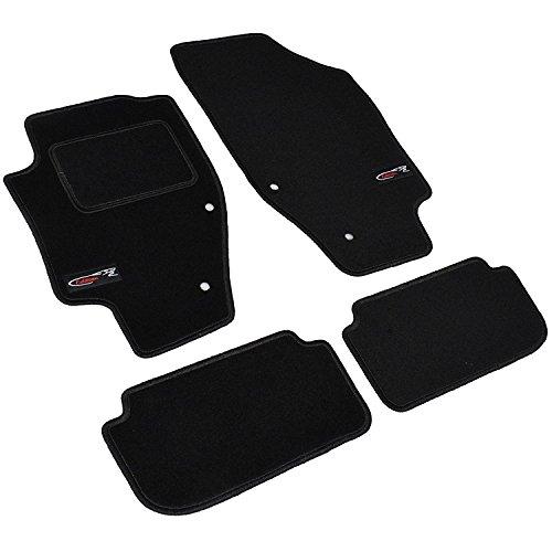 AME Auto-Fußmatten Velours mit schwarzer Kettelung, Edition Logo und eingearbeiteten Trittschutz inkl. Befestigungen 3634BKL