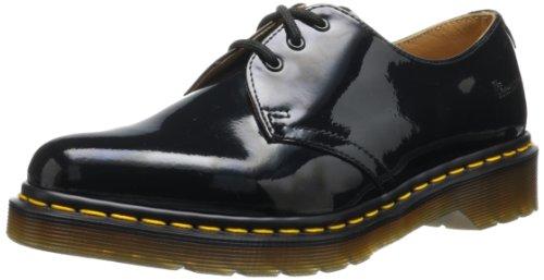 Dr. Martens 1461 Patent BLACK, Damen Derby Schnürhalbschuhe, Schwarz (Black), 38 EU (5 Damen UK) (Schuhe Leder Patent Pflege)