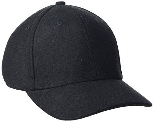 Libertine Libertine Herren Wool Baseball Cap, Schwarz (Black 12), One Size Black Wool Cap