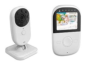 AGPtEK® Moniteur Sécurisé 2,4 Pouces Bébé avec Deux Voies avec Audio Communication Night Vision Zoom VOX Alarm Clock