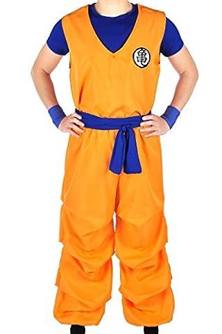 CoolChange costume 3 pièces de Dragon Ball de Son Goku de la Tortue géniale, Taille: S