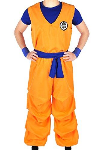 CoolChange Dragon Ball 3 teiliges Son Goku Trainings Kostüm beim Herr der Schildkröten, Größe: XL (Dragon Ball Kostüme Halloween)