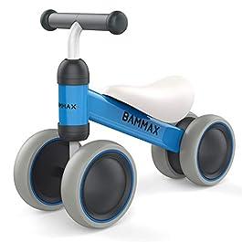 Bammax Bicicletta Senza Pedali, Bicicletta Equilibrio per Bambini 1-2 Anni, Triciclo Bambini, Prima Bici Senza Pedali…