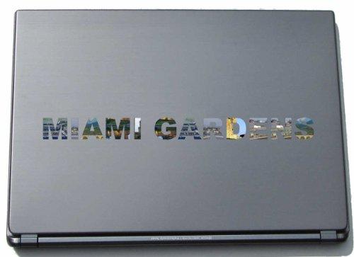 Miami Notebook Skin (Miami Gardens Laptop Aufkleber Laptop Skin 290 mm mit Sehenswürdigkeiten)