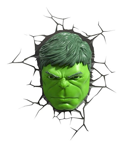 Image of Hulk Face Design 3D Look Children's Self Adhesive Vinyl Wall Sticker Décor