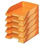 Leitz Plus Briefablage 70mm, 5Stück A4 Orange métallisé