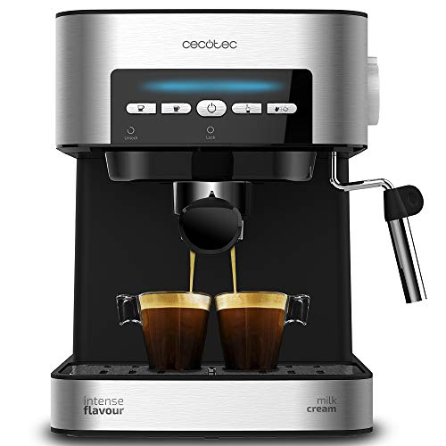Cecotec Cafetera Express Digital Power Espresso Matic para Espresso y Cappuccino, de 20 Bares, 850 W y Vaporizador Orientable.