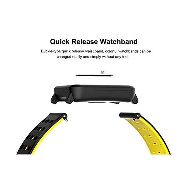 CanMixs Pulsera de Actividad Smartwatch, CM11 Impermeable IP68 Pulsera Inteligente con Podómetro, Monitor de Ritmo… 8