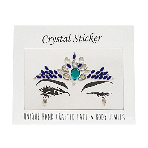 Autocollant de visage de foret acrylique, autocollants temporaires de tatouage de strass Body Art Gems Flash autocollant de tatouage (11#)