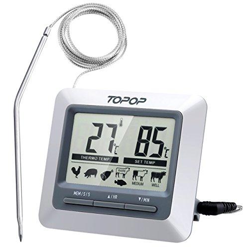 Fleischthermometer Grillthermometer Ofenthermometer Bratenthermometer Barbecue Smoker Grill Thermometer Mit LCD-Display Für Das Kochen BBQ Backofen / Fleisch / Pute / Steak.