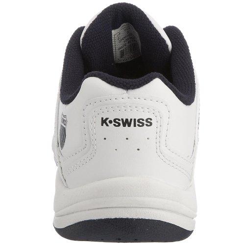 K-Swiss - Sport con racchetta Ragazzi Bianco (Bianco/Navy/argento)