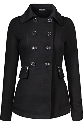 bodilove-womens-double-breasted-short-collared-peacoat-black-m-jf2219-black-outerwear