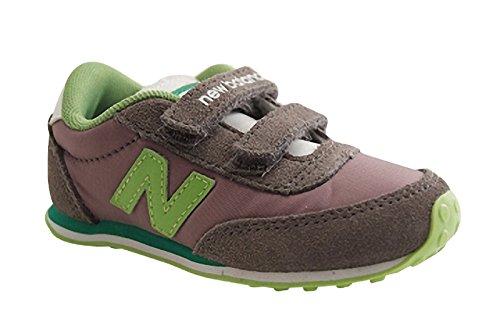 New Balance KE410CAY - Zapatillas Deportivas de Cuero Infantil, Color Gris, Talla 24