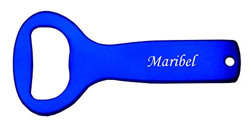 Metall Flaschenöffner mit gravierten Namen: Maribel (Vorname/Zuname/Spitzname)