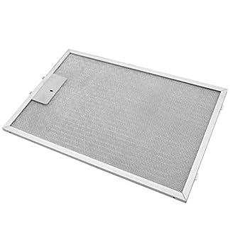 vhbw Filtro permanente metálico para grasa 38,8 x 26,5 x 0,9cm repuesto para Bosch 742967, 4242001260069 campana extractora metal