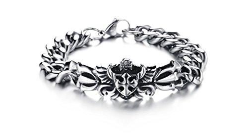 Gioielli da uomo in acciaio inox a catena pesante braccialetto personalizzato braccialetti