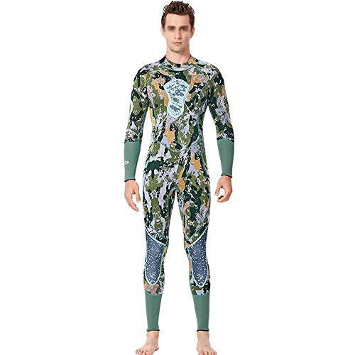 HO-TBO Männer Wetsuit, Jagd Fisch Anzug 3MM Männer einteiliger Taucheranzug Camouflage Outdoor Warm Schnorcheln Surf Badeanzug Angebot für Anfänger und Sportfans (Color : Photo Color, Size : L)