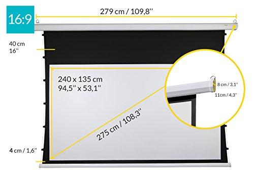ivolum Motor Tension-Leinwand 240 x 135 cm | Format 16:9 | 3D- oder 4K-Leinwand - 2