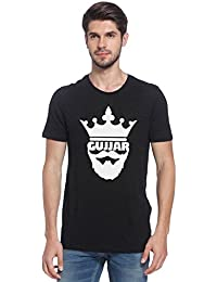 Crown Gujjar Legend Classic Logo Gurjar Desi Printed Round Neck 100% Cotton Biowash Half Sleeve Graphic T Shirt...