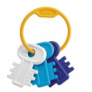 Chicco - Llaves sonajero mordedor clásico fáciles de agarrar, Color Azul