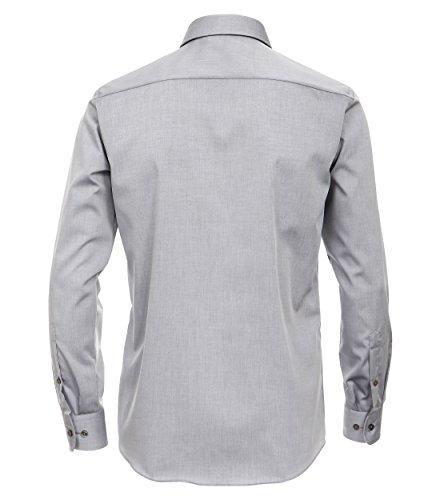 Michaelax-Fashion-Trade -  Camicia classiche  - Basic - Classico  - Maniche lunghe  - Uomo Grau (75)