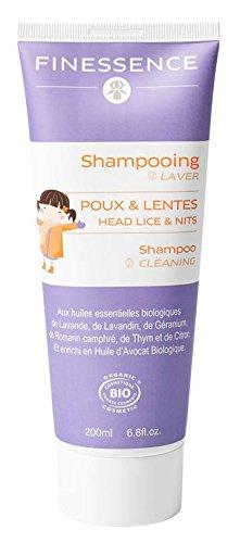 Shampoing Bio anti poux et anti lentes 200ml Finessence