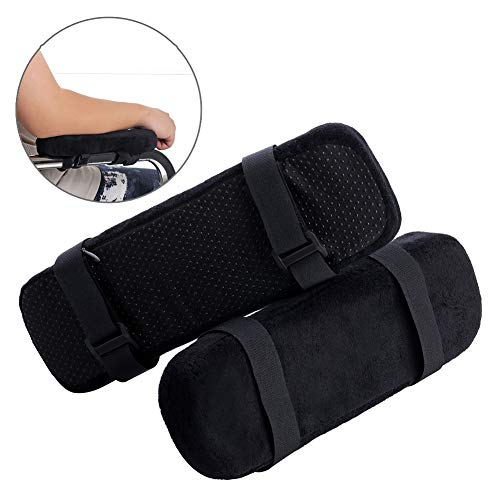 Exceart 2Pcs Padded Armrests Universal Arm Pads Replacement Leather Armrest Cushion for Wheelchair