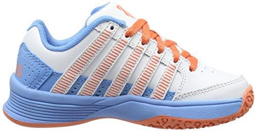 K-Swiss Performance Court Impact Ltr Omni, Chaussures de Tennis Fille Blanc (White/bonnie Blue/fusion Coral)