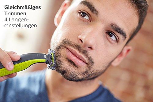 Philips OneBlade, Trimmen, Stylen, Rasieren / 4 Trimmeraufsätze, 1 Ersatzklinge Abbildung 2