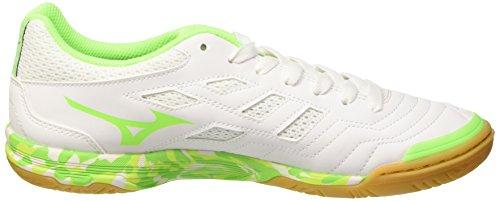 Mizuno Herren Sala Classic in Fußballschuhe Bianco (White/Green Gecko)