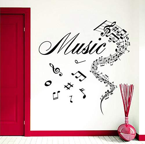 Musikalische Zahnbürste (Kunst Entwickelt Musikalische Notizen Mit Musik Zitate Wandtattoos Wandhaupt Schlafzimmer Kreative Dekorative Vintyl Aufkleber 60x60 cm)