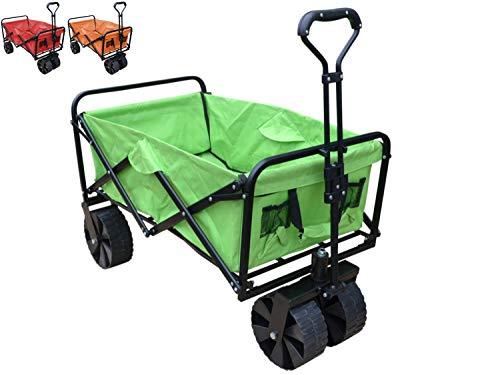 Papilioshop sandy carrello pieghevole con ruote da spiaggia trasporto max 80kg (verde)