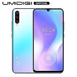 UMIDIGI X Smartphone ohne vertrag günstig mit Fingerabdrucksensor im Display, NFC, 4150mAh Akku, 128GB Speicher, 6.35'' AMOLED Full Screen, 48MP Ultra Wide AI Triple Kamera - Breathing Crystal