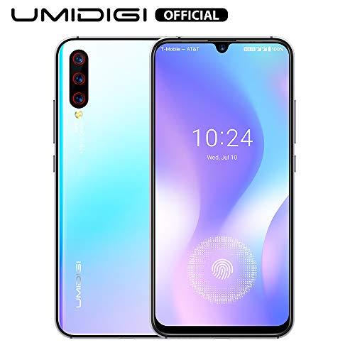 UMIDIGI X Smartphone ohne vertrag günstig mit Fingerabdrucksensor im Display, NFC, 4150mAh Akku, 128GB Speicher, 6.35\'\' AMOLED Full Screen, 48MP Ultra Wide AI Triple Kamera - Breathing Crystal