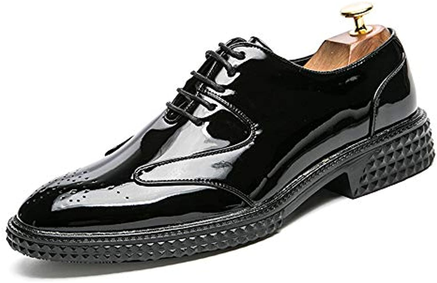 Da Uomo Business Oxford Casual Personality Fashion Fashion Fashion Retro Brush Coloreee Scarpe in Brogue Traspirante in Vernice... | Lavorazione perfetta