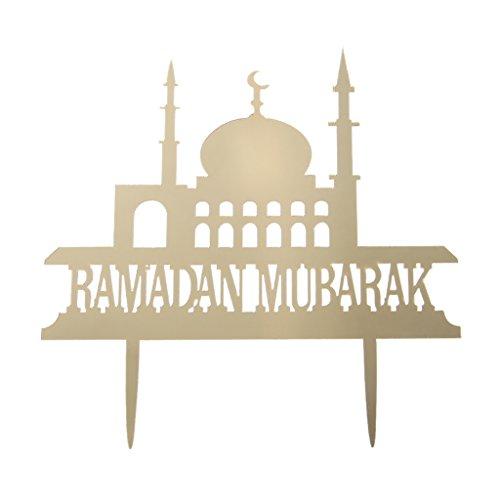 Wanfor Happy Eid Mubarak Ramadan Wedding Cake Topper Muslim Islam Party Cupcake Decor