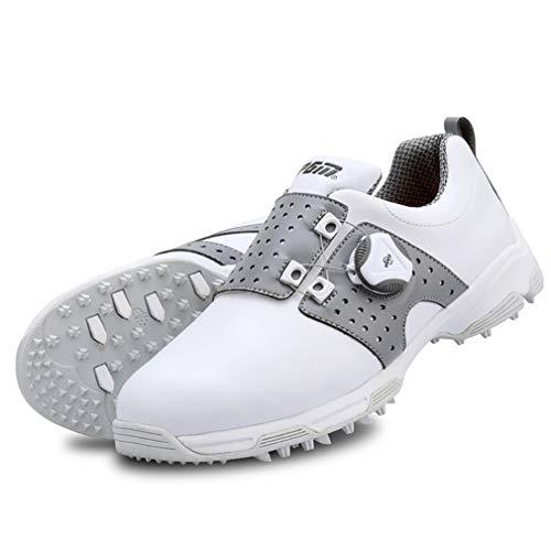 HJJGRASS PGM Golfschuhe Damen, Turnschuhe Wasserdicht Atmungs Sommer-Damen-Schuhe,Grau,36