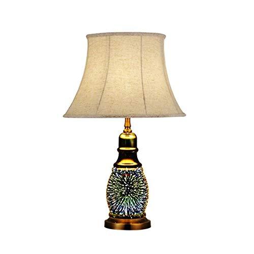 Tisch Lampe im europäischen Stil Retro-Schreibtisch Lampe Schlafzimmer Dekoration Tischlampe Starry Serie Tischlampe Glas Hotel zu Hause Leselampe