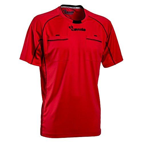 Cawila Schiedsrichtertrikot Referee15, kurzarm, verschiedene Farben und Größen (rot/schwarz, L)