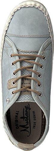 Mustang 1185-301 Schuhe Damen Schnürschuhe Halbschuhe Sneaker hellblau (sky)